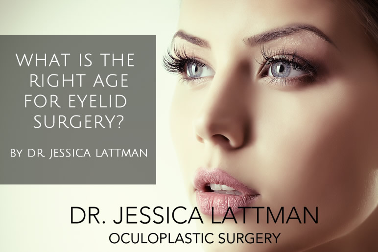 What is the right age for eyelid surgery